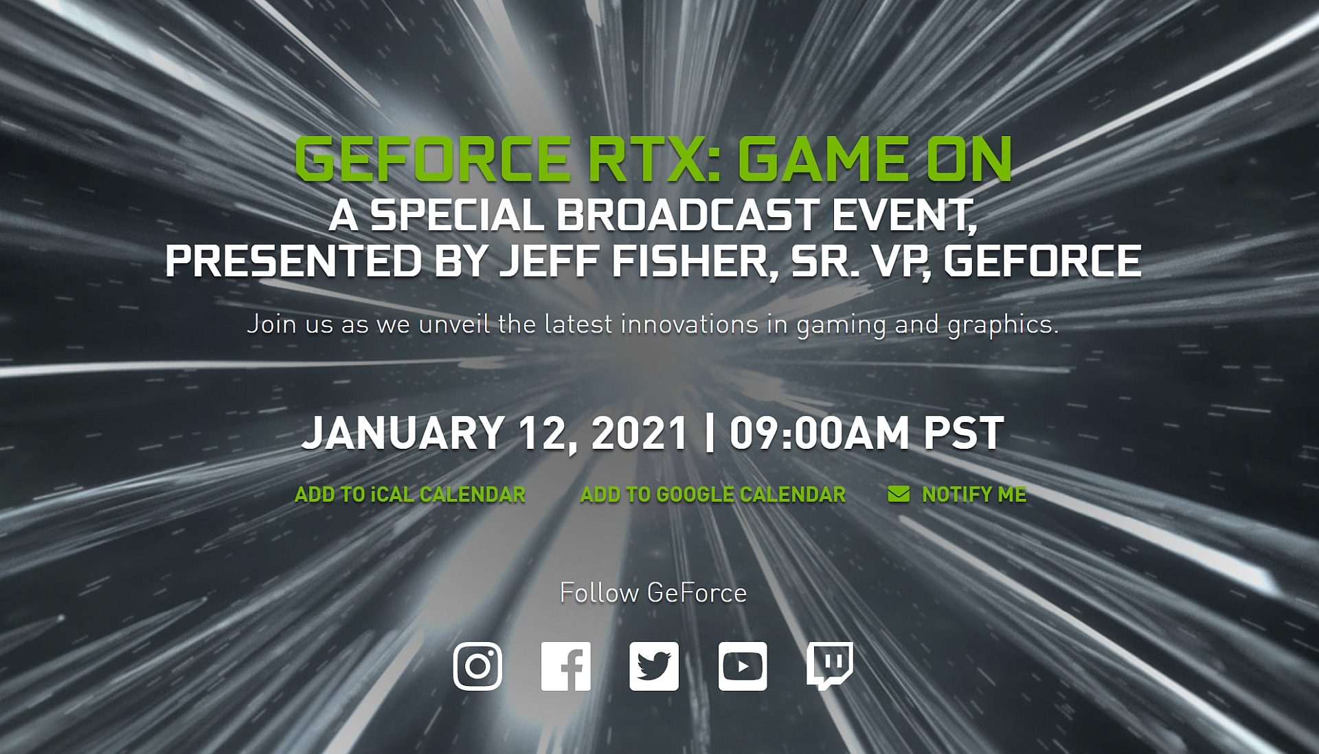GeForce RTX: Game On