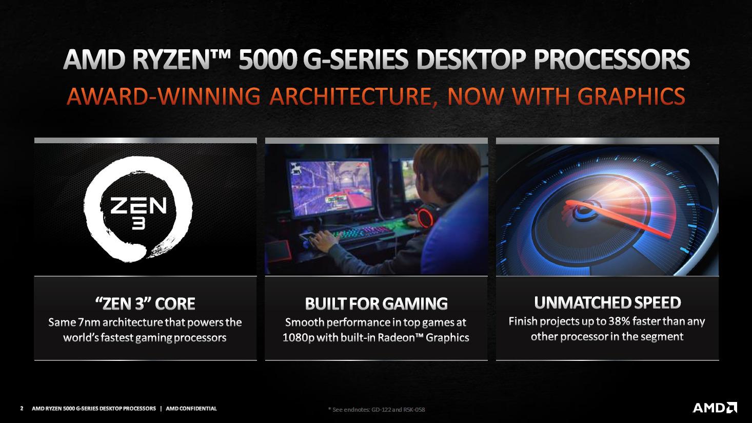 AMD Ryzen 5000G 1 - Zen 3