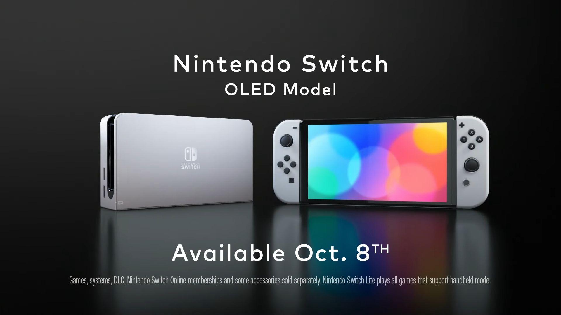 Nindendo Switch (OLED model) - releasedatum