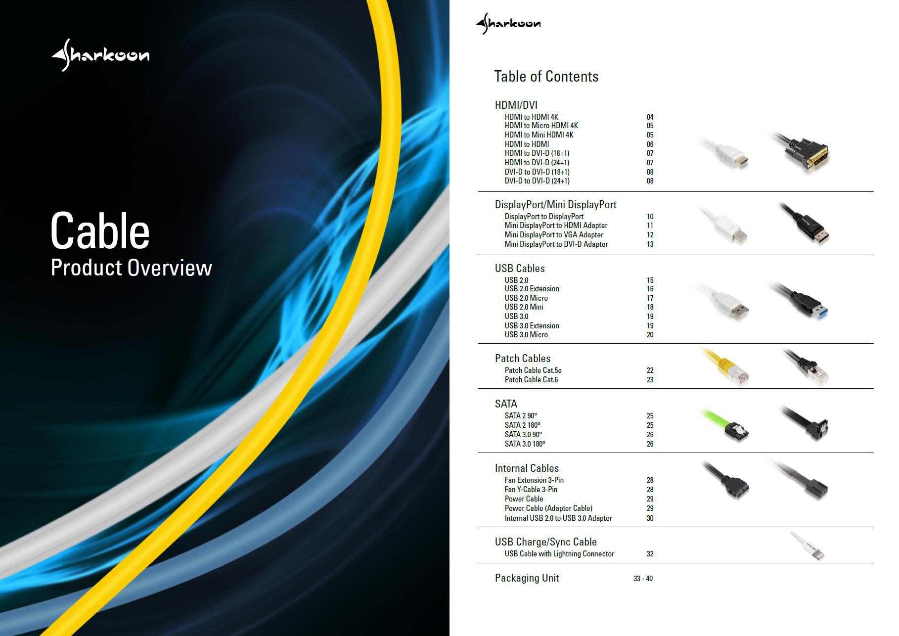Sharkoon Cable Catalog V22